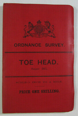 1899 Old OS Ordnance Survey Ireland One-Inch Second Edition Map 205 Toe Head