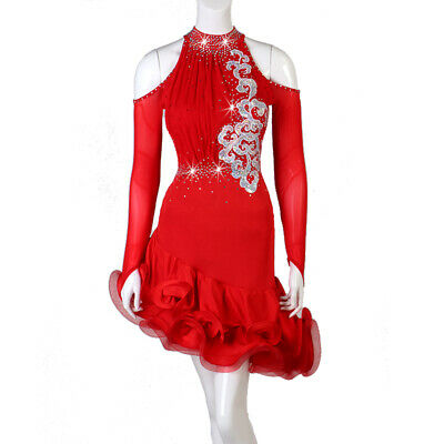 2019 Ballroom Women's Latin Rumba Tango Salsa Samba Competition Dance Dress 262