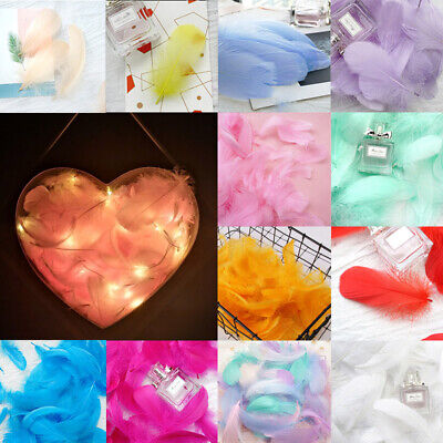 100X Macaroon Color Feathers Bouquet Garlands Gift Box Filling Photography Prop