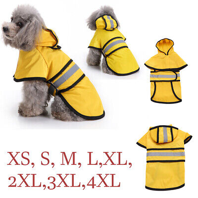 Waterproof Dog Raincoat Pet Clothes Hoodie Jacket Outdoor Small Large Dog XS 4XL
