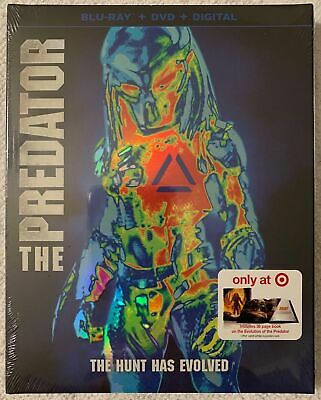 New The Predator 2018 Blu Ray Dvd 2 Disc Target Exclusive Digibook + Slipcover
