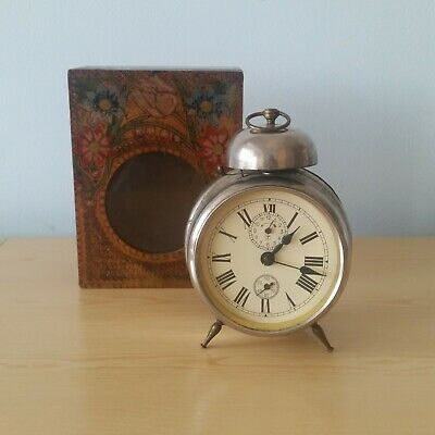 Antique JUNGHANS Alarm Clock Complete and Working