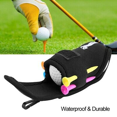 Portable Golf Ball Bag Tool Holder Golfer Mini Waist Pouch with Tees Solid Balls