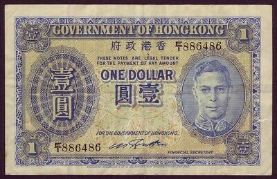 HONG KONG • 1940 • KG VI • One Dollar $1 • P312