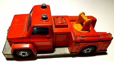 MATCHBOX SUPERFAST Model Feuerwehr SNORKEL FIRE ENGINE No.1 Made in England 1974