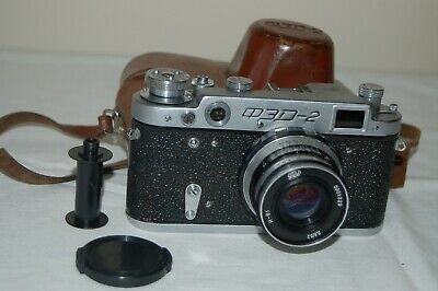 "Fed-2, Type D2, RARE ""A"" Prefix Vintage 1960 Soviet Rangefinder Camera. UK Sale"