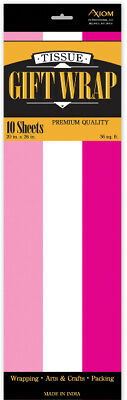 Pink / White Tissue Paper - CASE OF 24