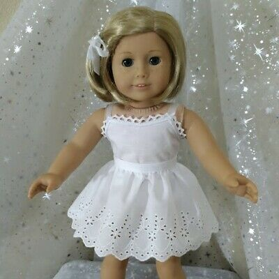 DOLL CLOTHES FITS 18 inch AMERICAN GIRL DOLL ~ HALF SLIP ~ WHITE ~ SKIRT ~ 4871