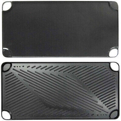 Black Aluminum Reversible Grill and Griddle Pan - CASE OF 12
