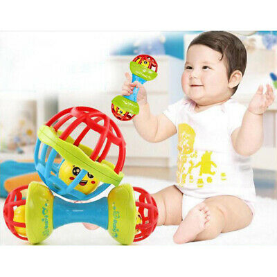 Baby Hand Ball Environmental Tooth Rubber Rattles Toy Baby Teether T IO
