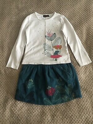 Catimini Girls Outfit Top And Skirt Size 5 Years