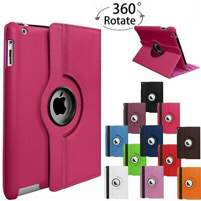 For Apple iPad Air 1 2 iPad Pro 9.7 Leather Smart Case Cover 360 Rotating Stand