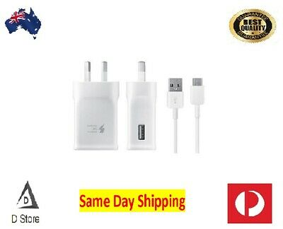 Genuine Samsung Fast Wall Charger + Cable for  S6 S7 S8 S9 S10 NOTE 8 9 10