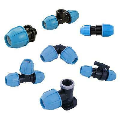 MDPE Plastic Compression Fitting PE100 LDPE Water Pipe WRAS Approved