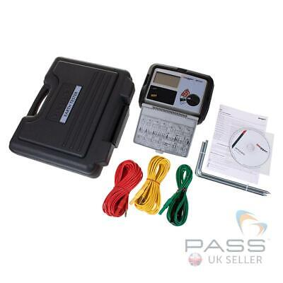Megger DET3TC Earth Tester with Stake and Wire Kit + Hard Carry Case / UK Stock