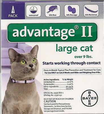 Advantage II Flea Control for LARGE Cats 9+ lbs, 8+ WEEKS - ONE (1) DOSE