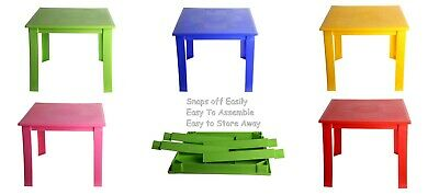 Kids Children Strong Plastic Table - Folding Table - In and Outdoor Side Table.