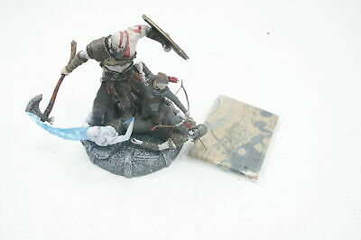 God of War Stone Mason Collectible Figure Plus Map MISSING VIDEO GAME SEE NOTES