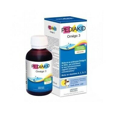PEDIAKID Omega 3 Syrup for memory & concentration Rich in DHA 125ml vit. A,C,D,E