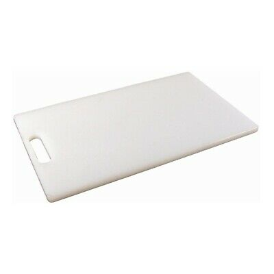 Genware Low Density Chopping Board - White - 10 x 6 x 0.5inches