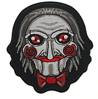 Saw Jigsaw Horror Mask Embroidered 3 Inches Tall Iron on Patch