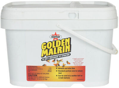 Golden Malrin Methomyl Muscamone Fly Bait Attractant in a 10 Lb Pail No NY, AK
