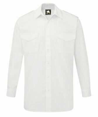Orn Essential Pilot Long Sleeve Shirt in White 19, 19.5, 20, 21, 22, 23