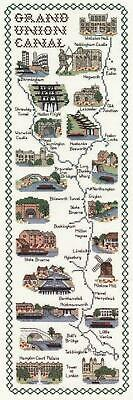 Map & Sights of the Grand Union Canal - Classic 14ct Counted Cross Stitch Kit