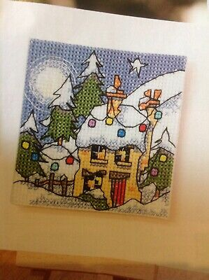(X) Michael Powell Winter Cottage Fairy Lights Christmas Cross Stitch Chart