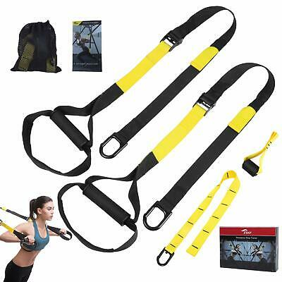 Body weight Fitness Resistance Trainer Kit w/Guide, Door Anchor, Extension Strap
