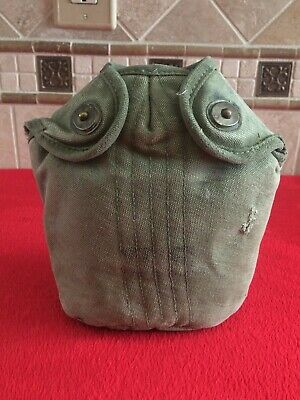 Original WW2 Canteen Cover Dated 1945 OD Green #7