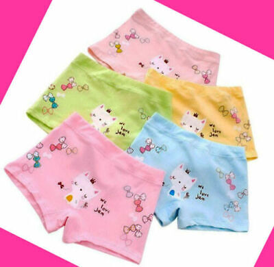 5 Pack Girls Boxer Shorts Briefs Cotton pants Underwear Knickers age 3-10 years