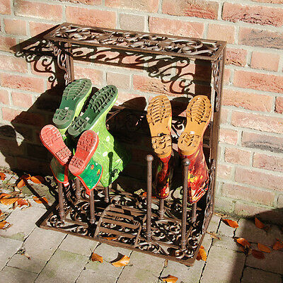 Cast Iron Wellington Boot Stand Cast Iron Four Pairs