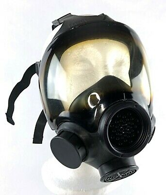 MSA Advantage 1000 Riot Control Full-Face Respirator / Gas Mask, Black - M