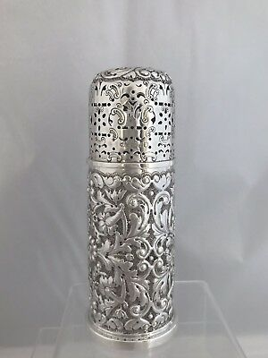 Large Victorian Antique Silver Sugar Caster Or Shaker 1899 London H Woodward
