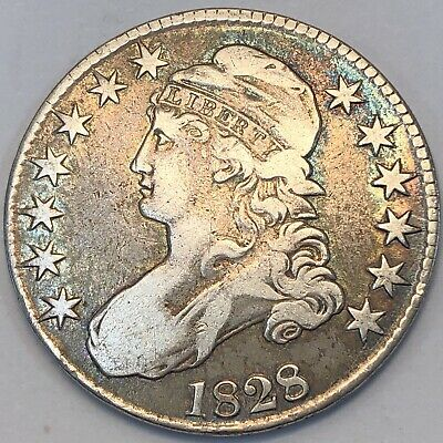 1828 Capped Bust Half Dollar. O-113. R3. Square Base 2, Small 8.