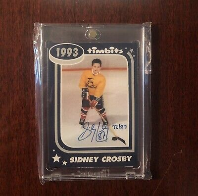 🏒 2015/16 Upper Deck Tim Hortons Sidney Crosby Timbits Auto /87 Rare 🏒