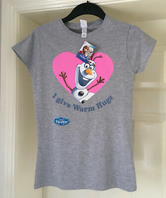 Disney's Frozen / Olaf Women's Size Medium Grey Pyjama T-Shirt Top