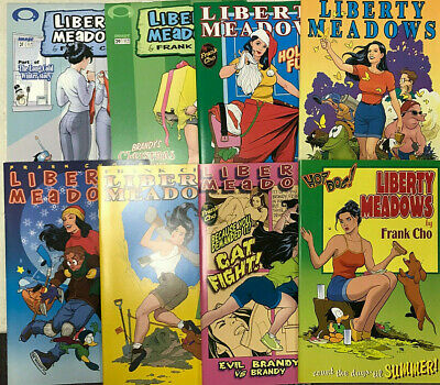 Lot of (8) LIBERTY MEADOWS Comic Books by FRANK CHO Insight Studios Comics