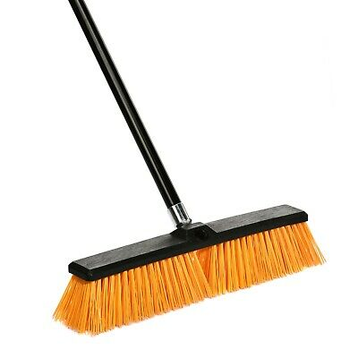 Alpine Industries 24 in. Yellow Rough Surface Commercial Push Broom 3 Pack