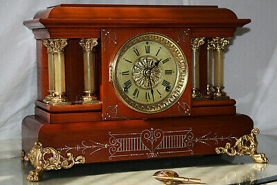 "SETH THOMAS Mantel Antique Clock c/1904 C - Model ""CHANDOS"" Totally RESTORED --"