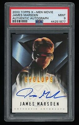 2000 Topps X-Men Movie James Marsden Cyclops Signed Autograph PSA 9 MT XMEN AUTO
