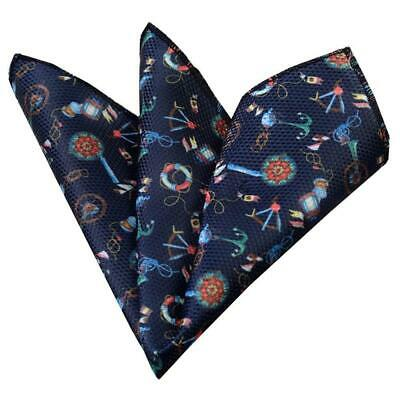 Amedeo Exclusive New Men's Multi Color Funky Style Snowflakes Handkerchief