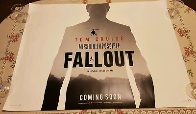 Mission Impossible Fallout UK Cinema Quad Poster (2018)   Cruise, Cavill, Pegg