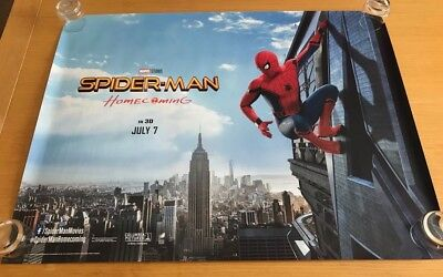 Spiderman Homecoming original UK Quad Poster (2017) Double sided - Fine
