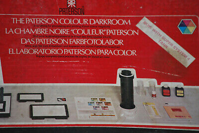 The Paterson Colour Darkroom 4 Developing, no chemicals, Vintage, Boxed Complete