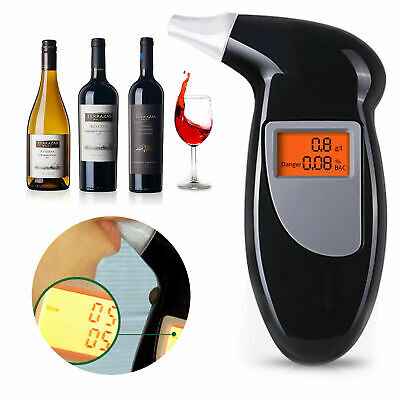 Police Breath Alcohol Tester Self Digital Analyzer Detector Breathalyser