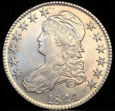 1824 Capped Bust Half Dollar. O-115.