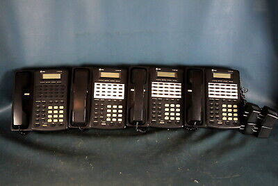 Lot of 4 AT&T 4 Line Model 954 Telephone Business Desktop Phone W/ Power Supply