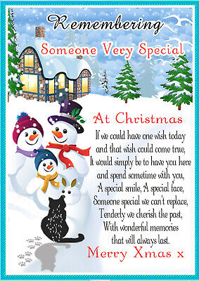 Christmas Someone Special Graveside Rememberance Memorial Card & Free Holder